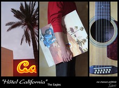 "(PETIT PROJET COMMUN) ""Htel California"" Ma Chanson Prfre (verytallsam (connect quand il peut)) Tags: california coconut song peinture nightlight guitarist chanson toile guitare non 12cordes htelcalifornia"