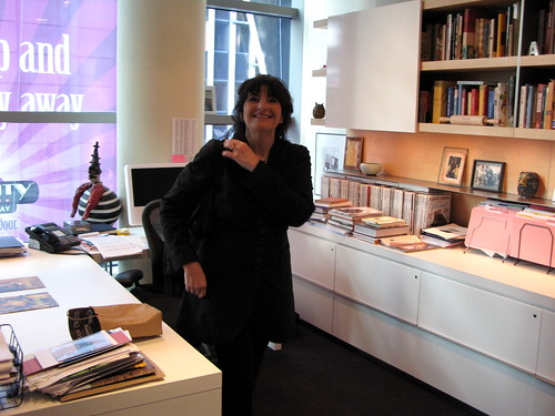Ruth Reichl in her office at Gourmet Magazine