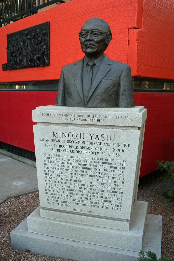 Minoru Yasui Statue