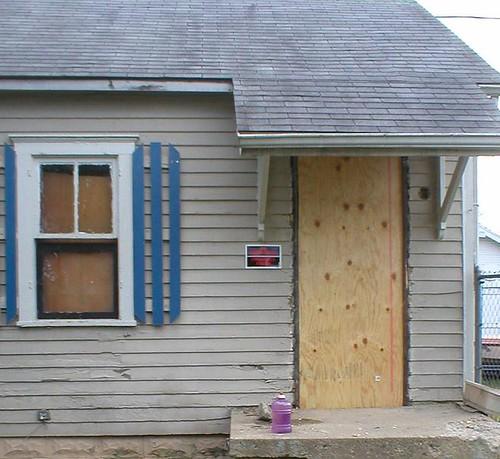 Front Door Gone: Exterior