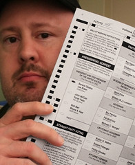 I Voted Today (RockyRoad) Tags: usa me john election presidential government vote obama ballot