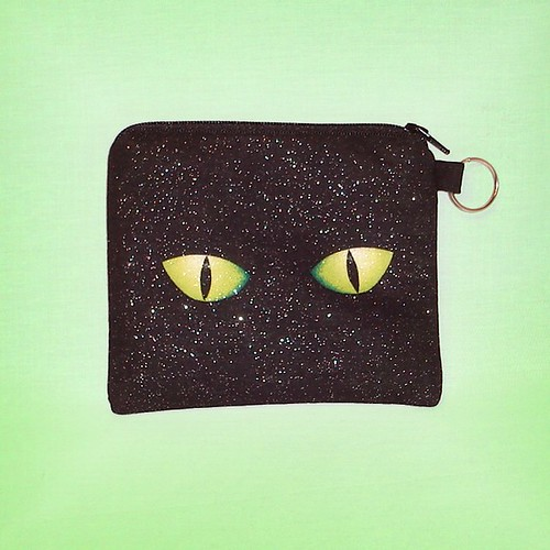 cat eyes in the dark. Cat eyes in the dark coin purse