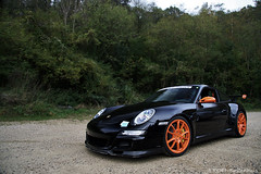 Porsche 997 GT3 RS (Jeroen Buitenhuis) Tags: wood trees orange black holland reflection slr club race forest photoshop canon eos mercedes jeroen 2000 signature s mclaren porsche crop views 1785mm circuit 3000 rs ef 1000 gt3 997 folembray buitenhuis 400d