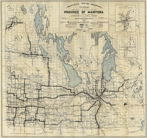 Provincial Trunk Highways System and Municipal Roads Province of Manitoba (1930)