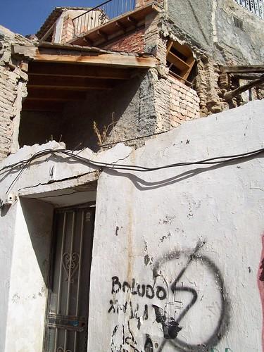 Façade en ruines