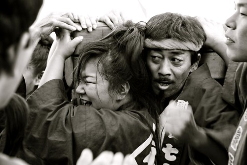 The Struggle To Carry The Mikoshi In Kokubunji, Japan