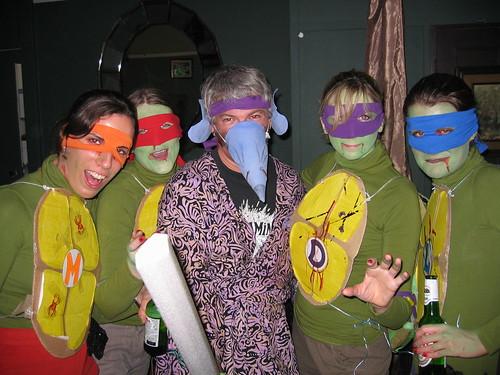 Teenage Mutant Ninja Turtles with Master Splinter