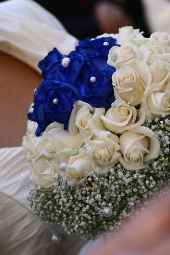 Bouquet Sposa Bianco E Blu.Bouquet Da Sposa Bianco E Blu Fiorista Mariangela