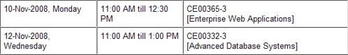 New Exam Schedule