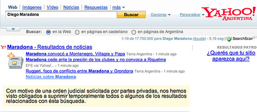 Yahoo Argentina Censored