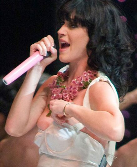 Katy Perry Holding Dress Up