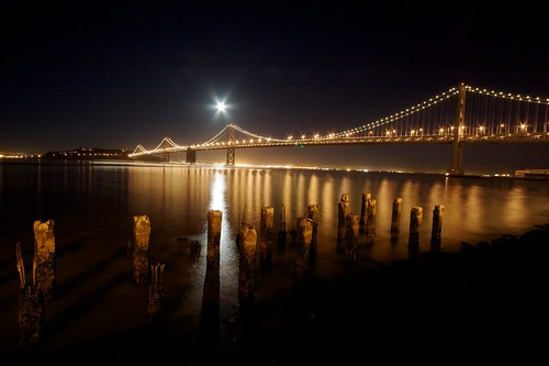 Full Moon Over The Bay Brige