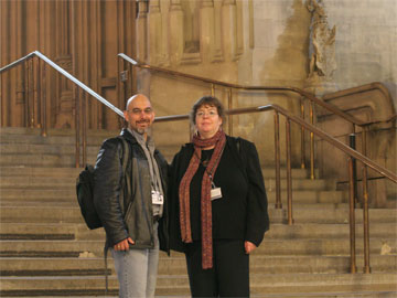 With Liz in Westminster Hall