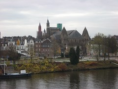 View across the river Meuse (Maas)