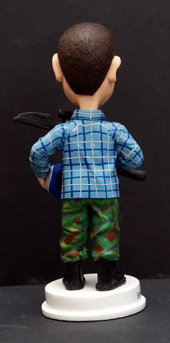 fully customised 3D caricature figurine angle  3