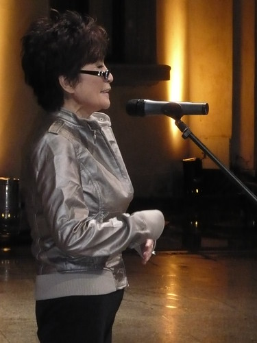 Yoko Ono in Warsaw: 18 Sept 2008 by you.
