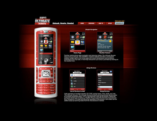 ESPN Ultimate Remote Microsite