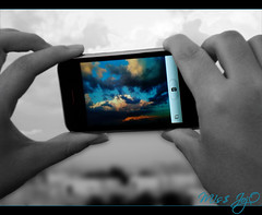 ~     ~ [Explored] (![M!sS JojO]!) Tags: sky cloud cloudy 3g doha qatar iphone