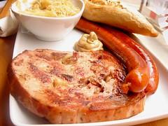 Imbiss, Seymour Place W1 (bellaphon) Tags: food lunch sauerkraut wurst austrian imbiss leberkas leberkse sonydsct7 debreziner kaiserbeerbread