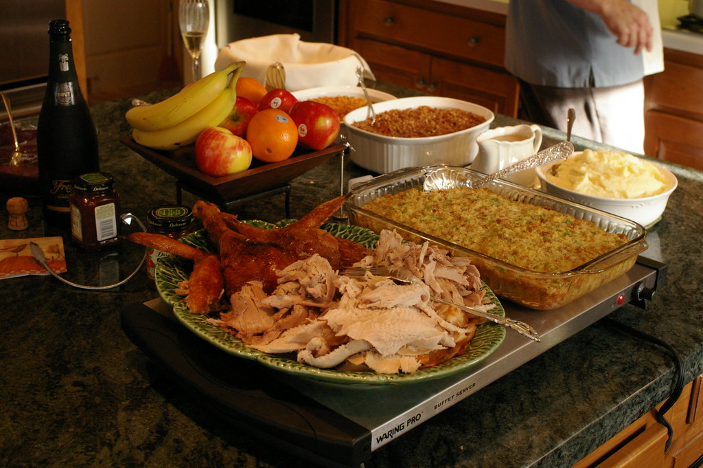 Thanksgiving buffet by Rhett Sutphin, on Flickr