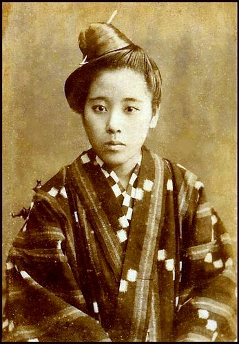 19th CENTURY PORTRAIT OF AN OKINAWAN GIRL