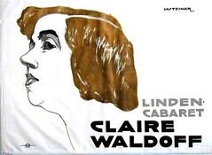 Jo Steiner (1877-1935) - Manifesto per spettacolo di cabaret di Claire Waldoff, a Berlino, nel 1914.