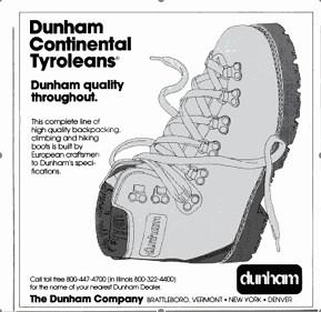 Dunham Continental Tyroleans