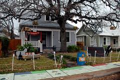 Financial Crisis (Jose Ole) Tags: christmas street decorations yard austin lights texas jose humor monopoly financial crisis lozano 37th