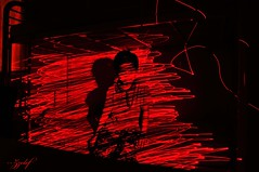 Laser light painting (zzclef) Tags: red lightpainting kid nikon maggie laser