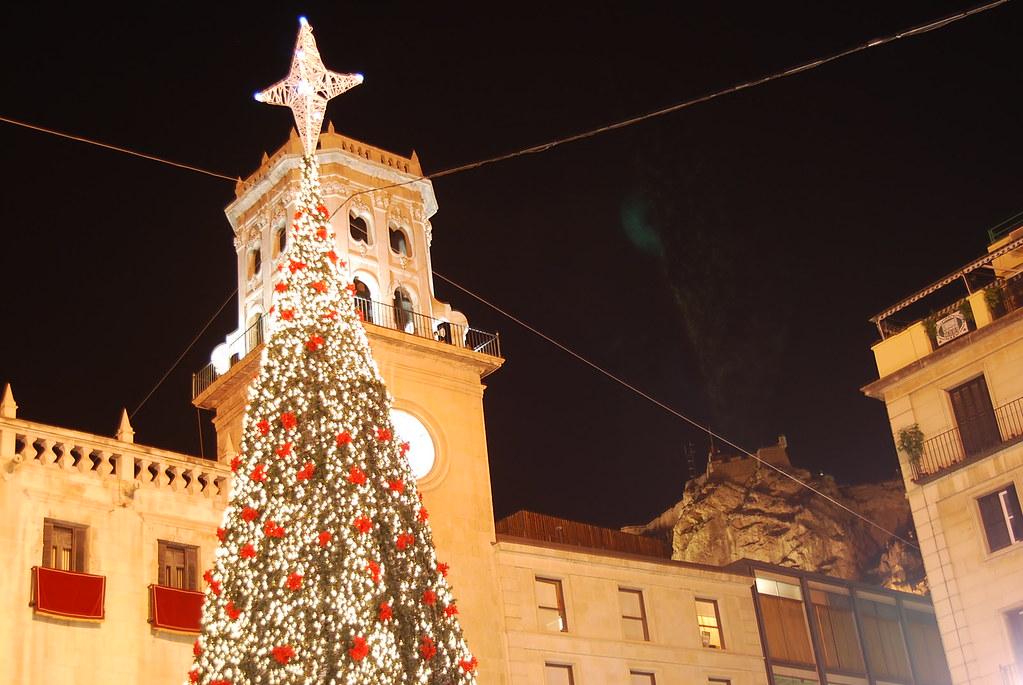 La Plaza del Ayuntamiento en Navidad