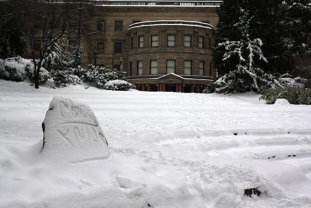 snow, portland
