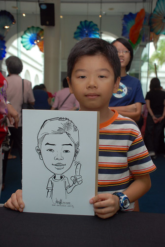 Caricature live sketching at Singapore Art Museum Christmas Open House - 11
