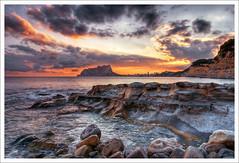 Cala Baladrar (Moraira) (WisoNet) Tags: sunset sea espaa marina canon atardecer mar spain cove playa alicante 10d cala hdri 1740l moraira tamarit peon benissa wisonet calabaladrar