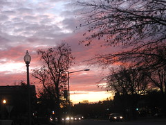 Urban Sunrise (Kurlylox1) Tags: city morning pink blue winter sky urban sunrise washingtondc early colorful purple streetlights headlights walktowork capitolhill daybreak earlyriser morningperson theearlyrisercatchesthesunrise