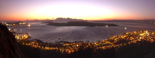 Largs night panorama 27Dec08