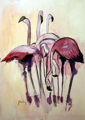 Flamingo (serega:)) Tags: watercolor flamingo aquarel