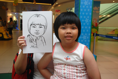 Caricature live sketching for Marina Square Day 2 - 18