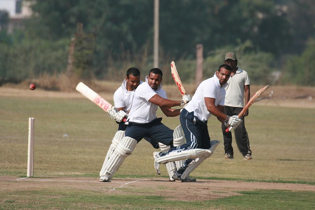 Anil's batting action