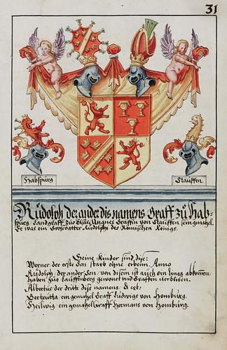 006-Escudo de armas del Conde Rudolf II de Habsburgo-Laufenburg-saa-V4-1985_031r