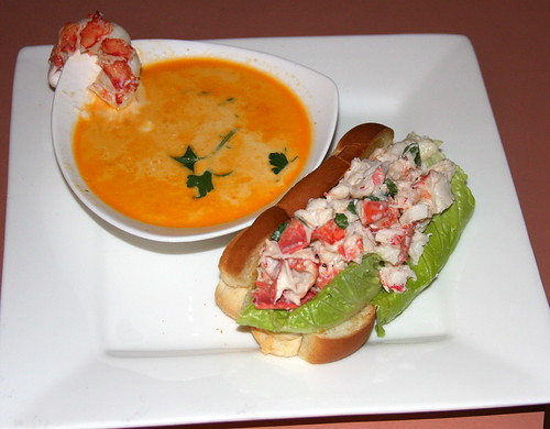 Maine Lobster Bisque and Lobster Roll