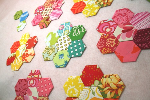 pop garden hexagon quilt