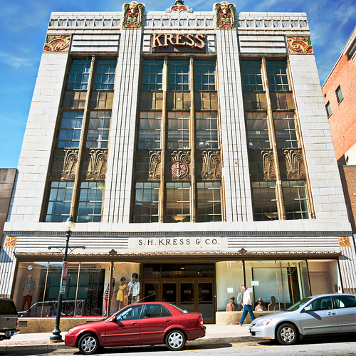 front elevation, Kress Building (1930), 212 South Elm Street ...