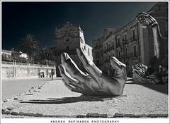 The awakening (Andrea Rapisarda) Tags: italy sculpture geotagged italia sicily sicilia siracusa theawakening g8 scultura postprocessing piazzaduomo tonemapping jsewardjohnsonjr fourthird quattroterzi ilrisveglio rapis60 andrearapisarda olympuse620 geo:lat=3705942 geo:lon=1529335