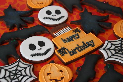 Halloween themed Birthday Cookies