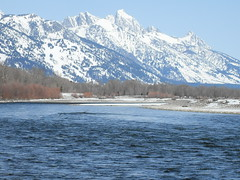 Snake River from the Wilson Bridge looking at the Grand Teton (stevencook) Tags: grand jackson snakeriver wilson wyoming tetons grandteton jacksonhole jh tetonrange wilsonbridge tetoncounty stevencook stevencookrealtor stevencookrealtycom