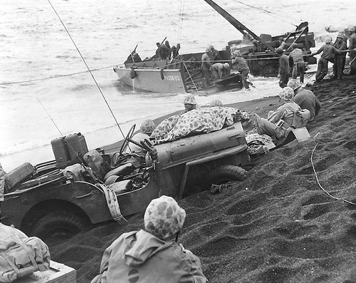 Jeep Iwo Jima Beach by lee.ekstrom