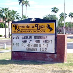 school_sign_kyrene_de_los_lagos_elementary_1177 (Stewart Signs) Tags: school signs outdoor