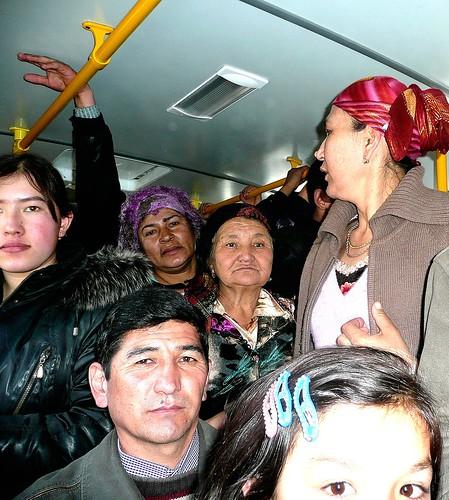 Crowded Bus - Urgut, Uzbekistan