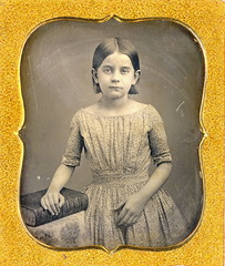 Darling Girl With Large Book Daguerreotype (Mirror Image Gallery) Tags: daguerreotype victorianchildren