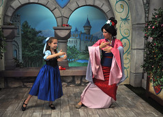 Mulan and Ariel (Angelasews) Tags: ariel disneyland disney littlemermaid mulan princessfantasyfaire
